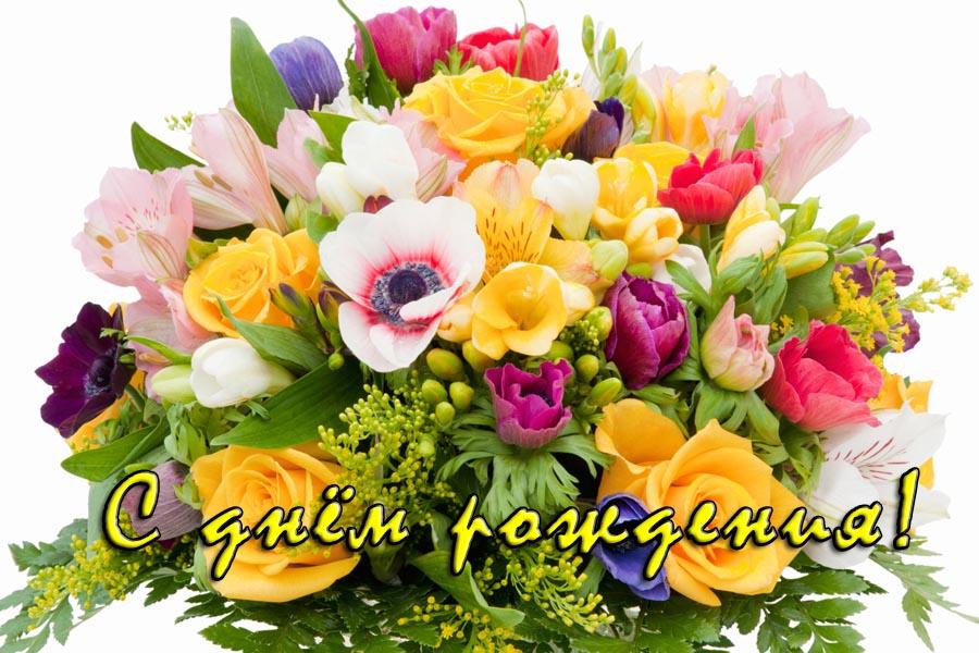 С днём рождения букет полевых цветов