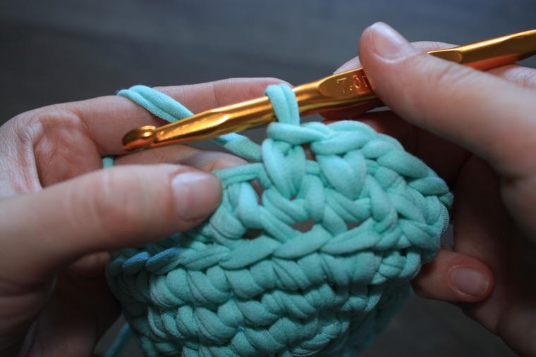 вязание квадратной корзинки