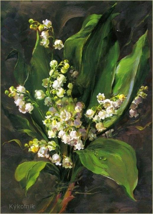 Цветочные истории от Анны Коттерилл (Anne Cotterill, British, 1933 - 2010)