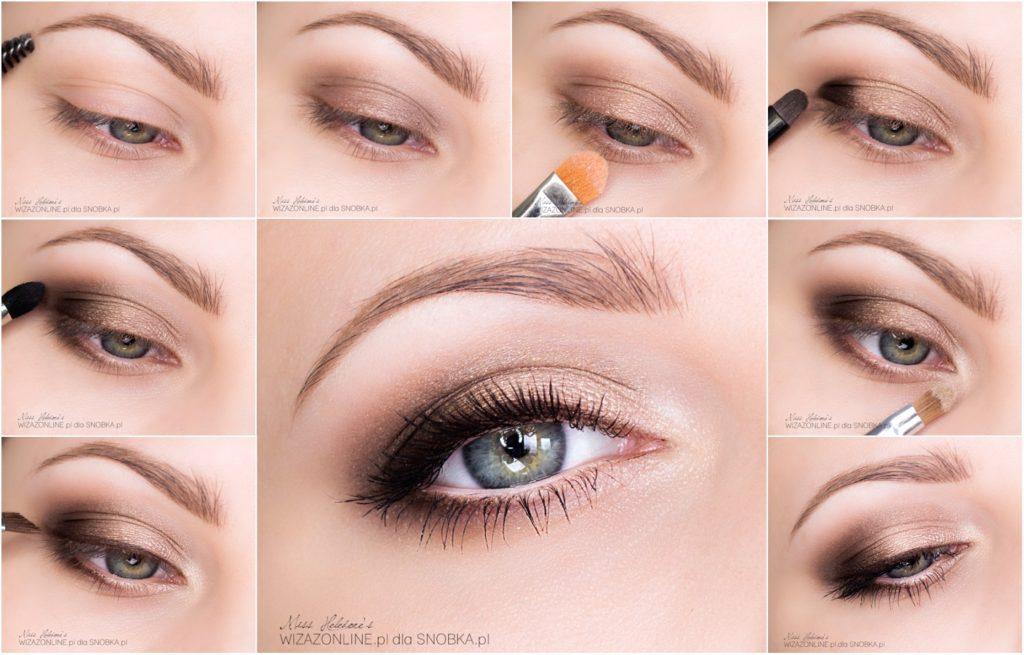 Как сделать при помощи макияжа глаза