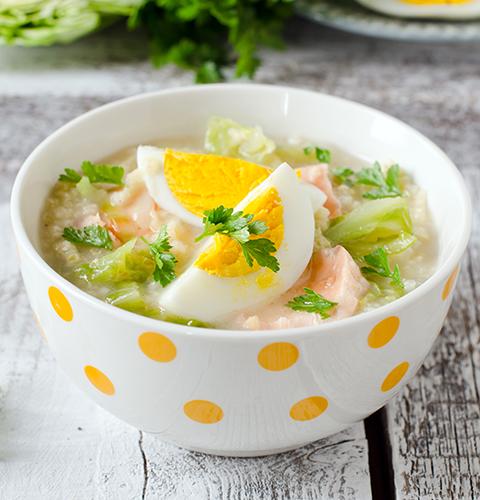 Рыбный суп с пшеном и свежей капустой
