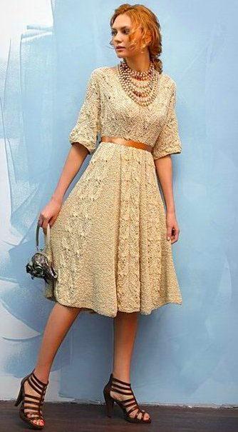 Платье в винтажном стиле