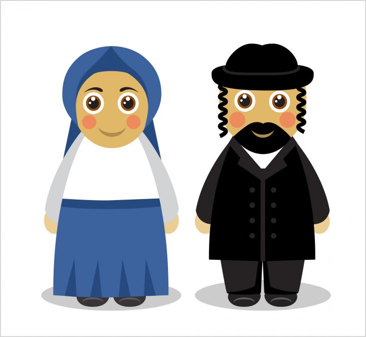 Чудесный анекдот про еврейскую пару, попавшую в затруднительную ситуацию