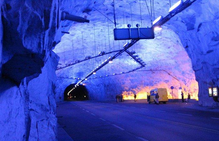 Тоннель Lærdal Tunnel.
