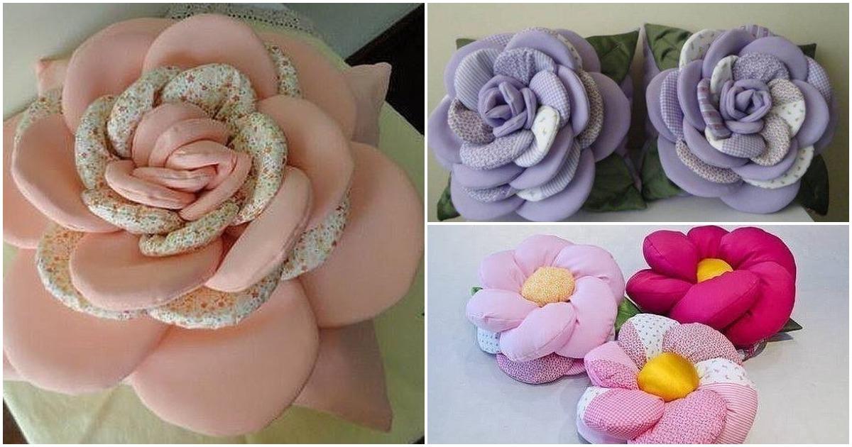 Очень уютные декоративные подушки цветы. Выкройки и фото идеи