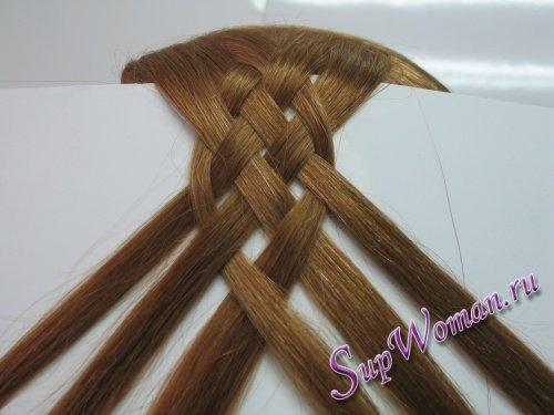 Плетение косичек из 6 прядей