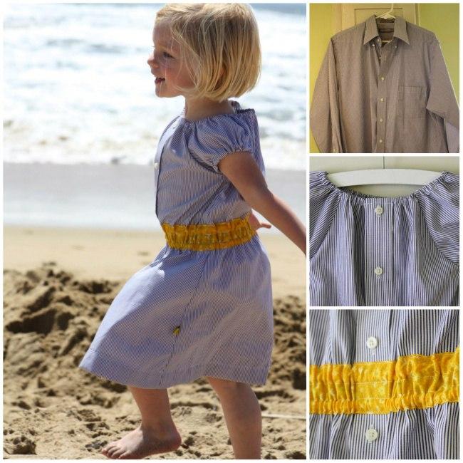Очаровательные платьица из папиных рубашек