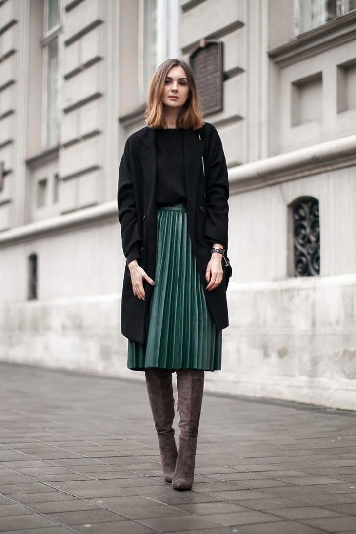 С чем носить юбку-плиссе