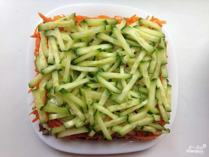 Рецепт с корейской морковкой и огурцом