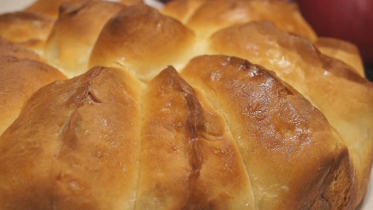 """Яблочный Пирог """"Ломтик"""". Отрывной пирог с нежными булочками """"лепестками"""""""