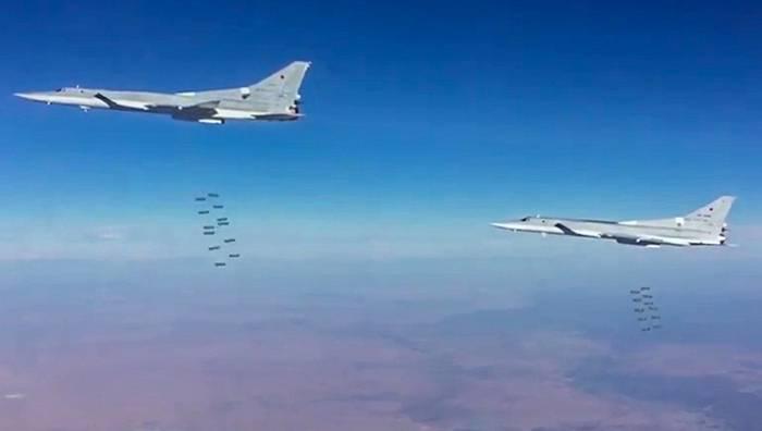 Дальняя авиация РФ нанесла авиаудар по объектам ИГ* в районе Абу-Камаля