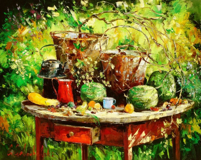 пейзажи и натюрморты Gleb Goloubetski - 02