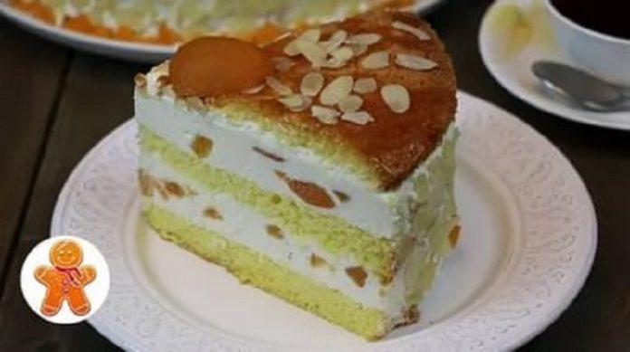 Великолепный творожный торт с фруктами