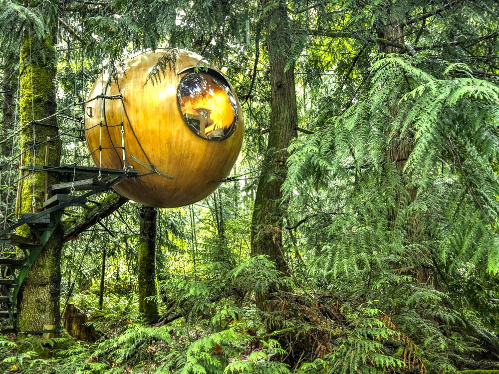 Необычный отель на острове в Ванкувере