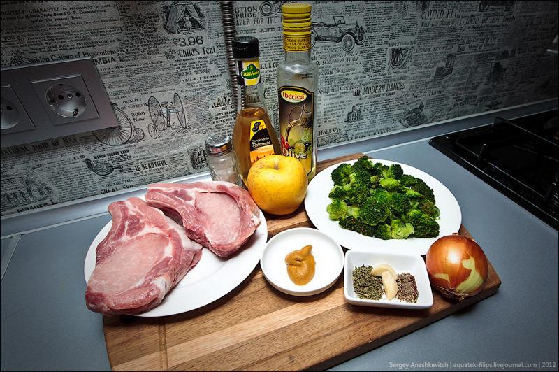 Как приготовить мясо в яблоках?
