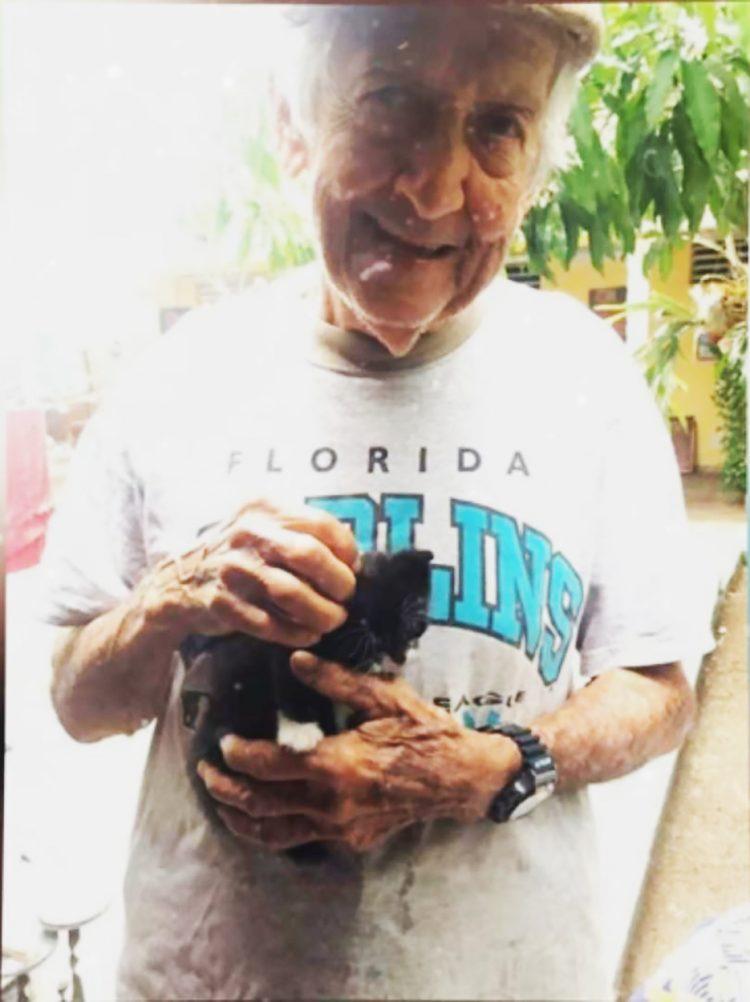Дедушка устроил спецоперацию, чтобы спрятать беременную кошку от сварливой жены