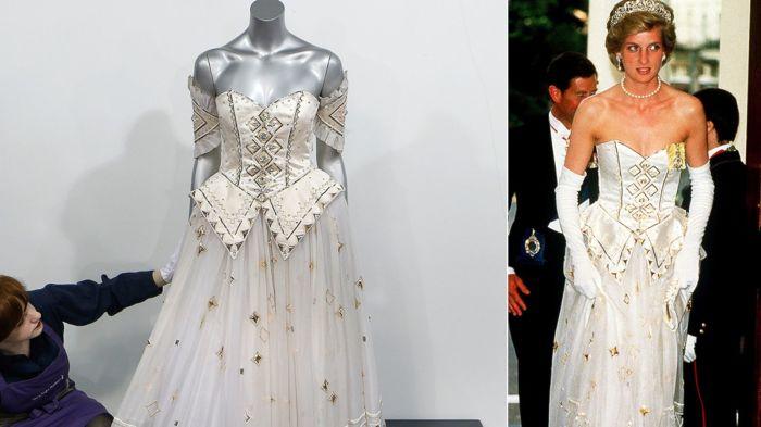Бальное платье принцессы Дианы.   Фото: slice.ca.
