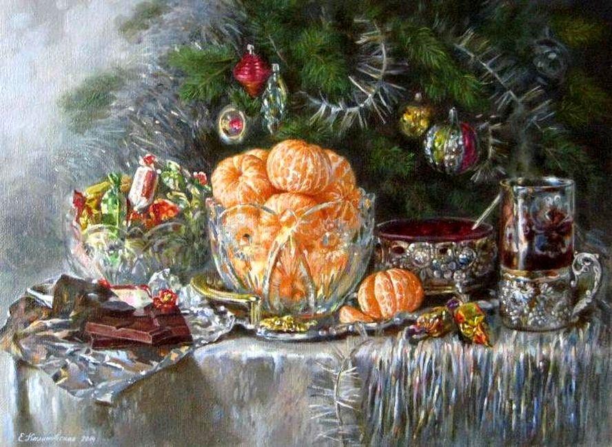 «Восемь волшебных, серебряных дней в году…» Новогодний натюрморт на картинах художников