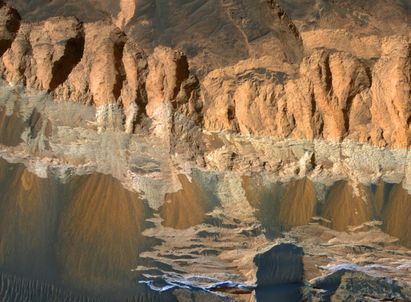 Необычные рельефы Марса
