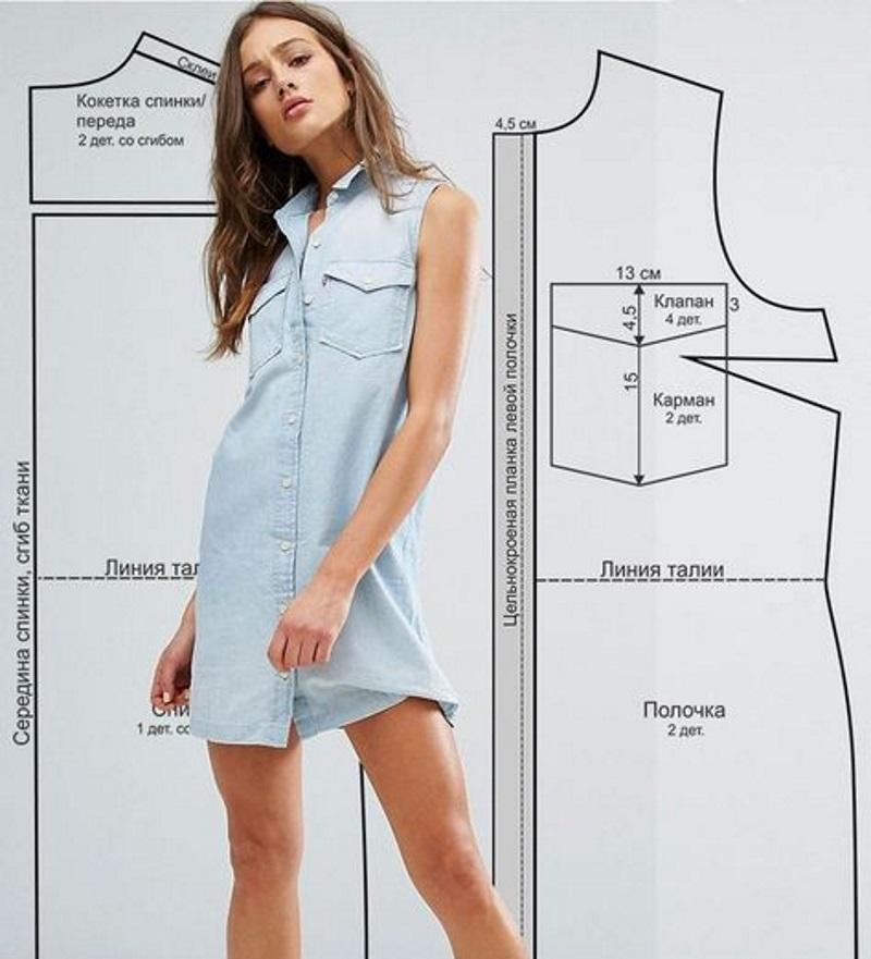 как сшить платье а