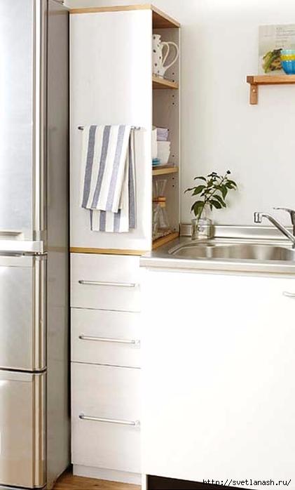 Грамотно используем место у холодильника