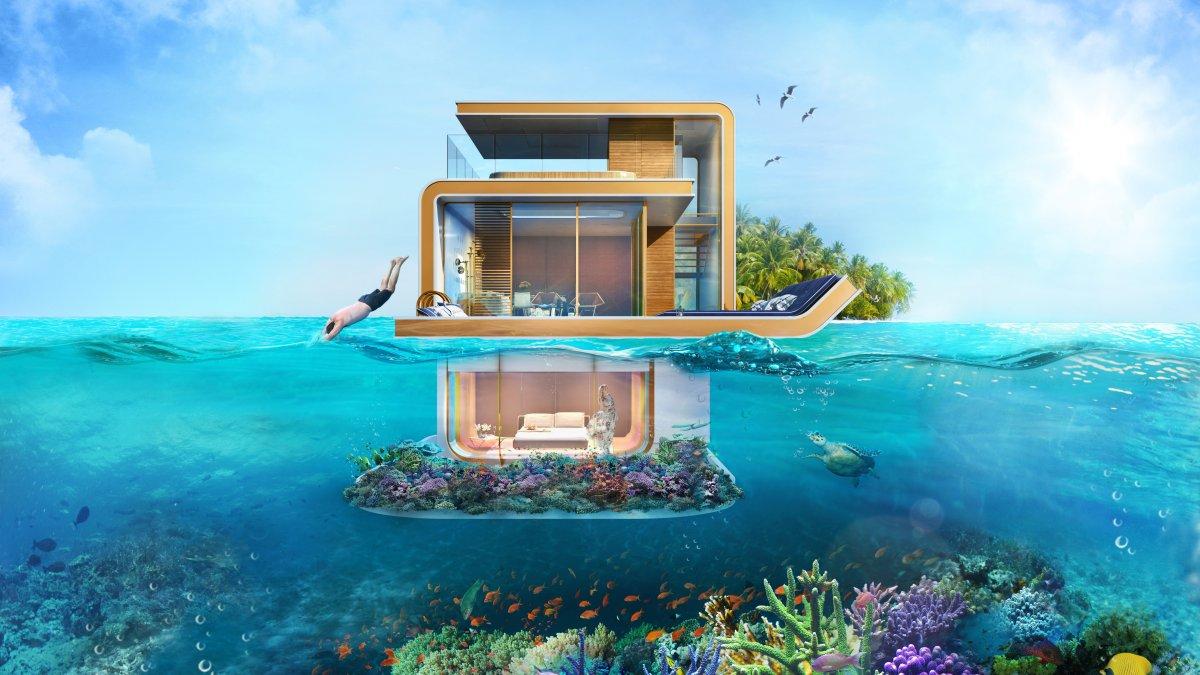 В Дубае создан проект наполовину погруженного в море дома, от взгляда на который захватывает дух