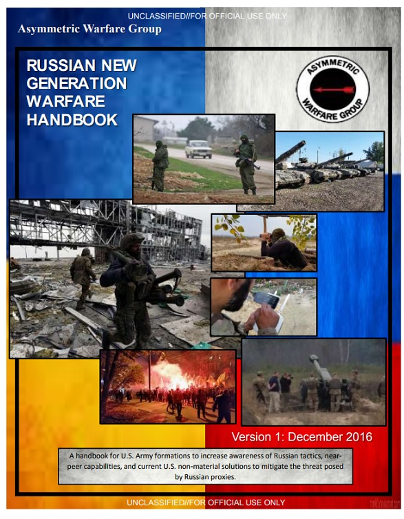 """Russian New Generation Warfare Handbook"""