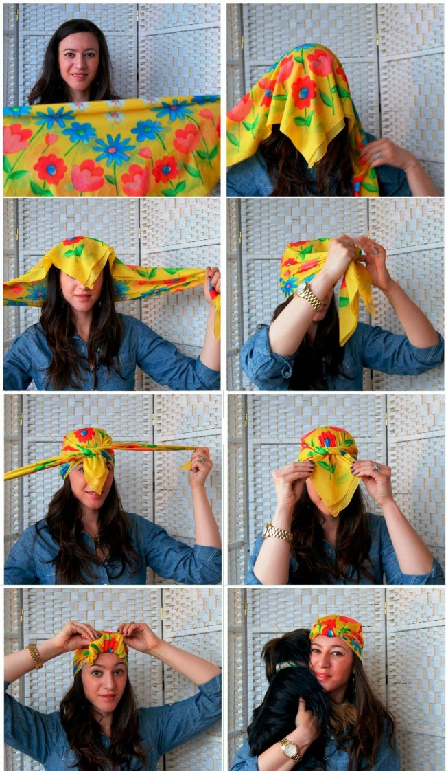 10 способов носить платки, косынки и легкие шарфы, чтобы быть яркой и стильной