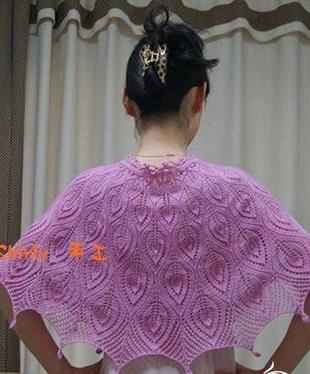 Узоры спицами для шарфиков, шалей, палантинов