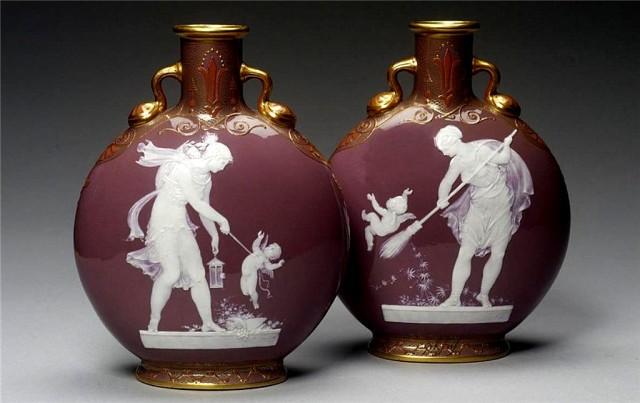 Антиквариант, вазы слой за слоем