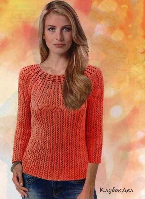Два элегантных пуловера спицами.