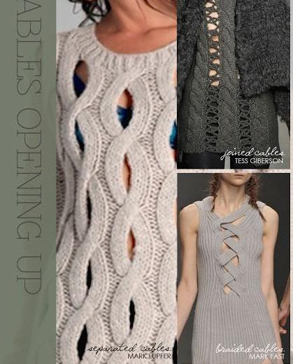 Варианты вязания спицами сквозных узоров для платьев, пуловеров и кофточек