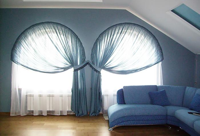 Интересные развески штор и гардин