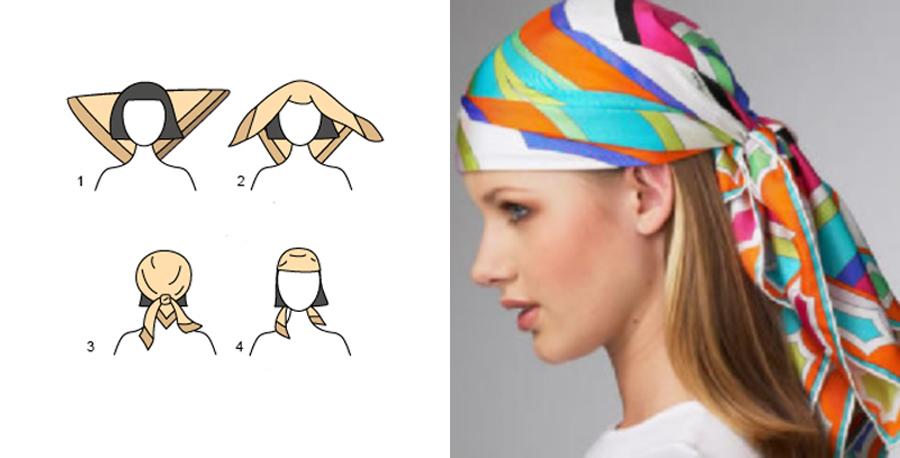 Как завязать платок на голову.