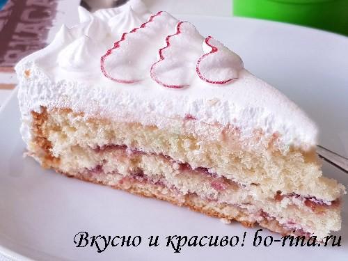ДЕСЕРТНЫЙ ВИХРЬ. Бисквитный торт с белковым и чиз-кремом