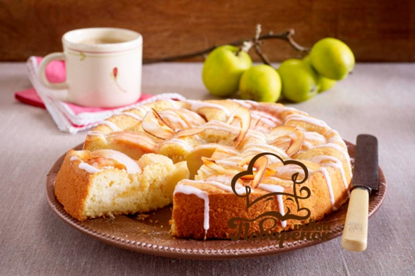 Творожный пирог с бананом и яблоком. Невероятно нежный и сочный. Простой и быстрый