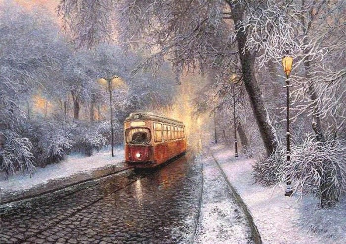 зимние пейзажи Ольга Дидык - 07