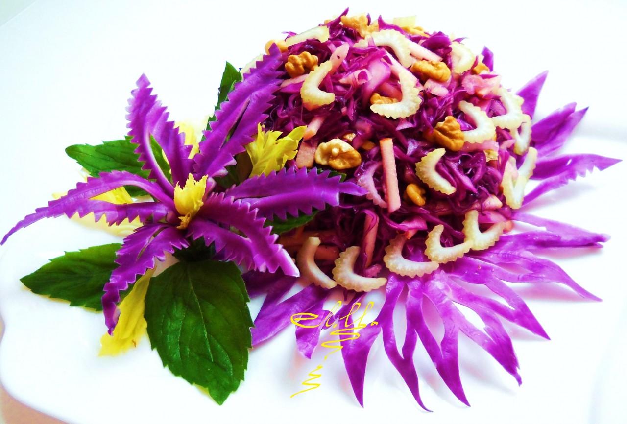 Украшения из капусты. Оригинальные украшения из овощей и фруктов
