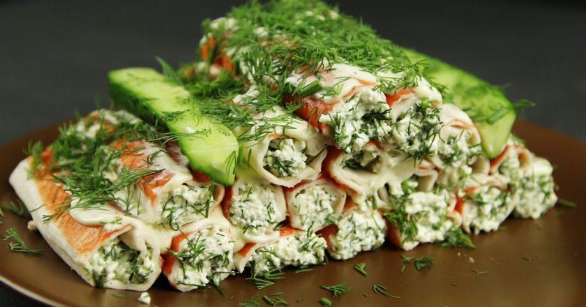 Блюда из крабовых палочек рецепты с фото
