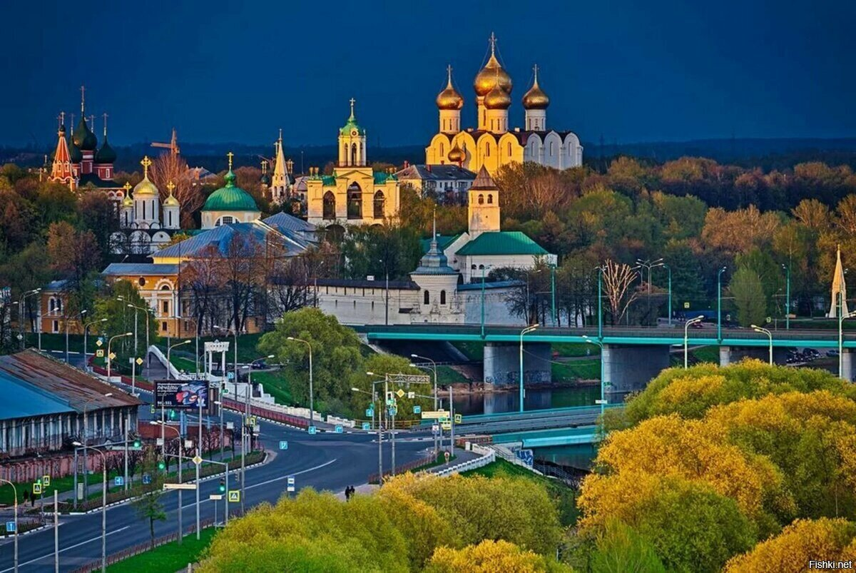 Исторический центр города в Ярославле