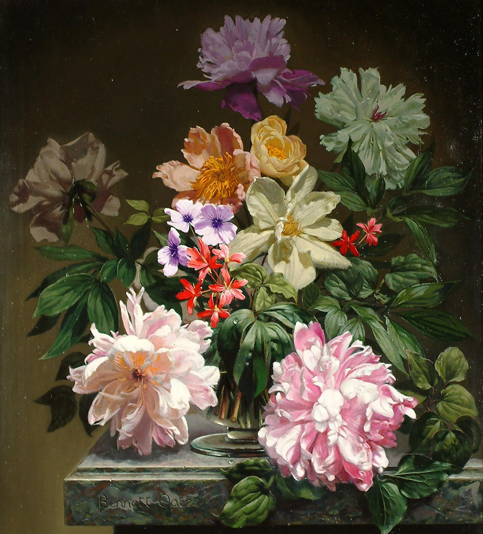 Цветочные натюрморты Мишеля Беннета Оутса (Bennet Oates)