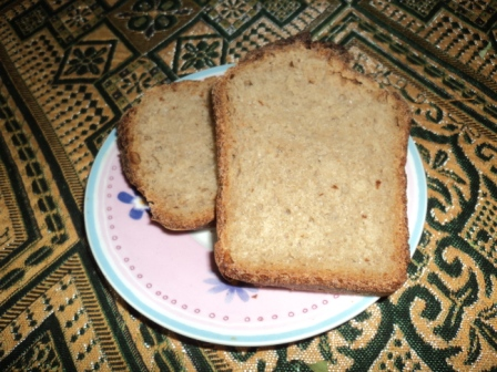 Мачо на кухне - домашний бездрожжевой хлеб.