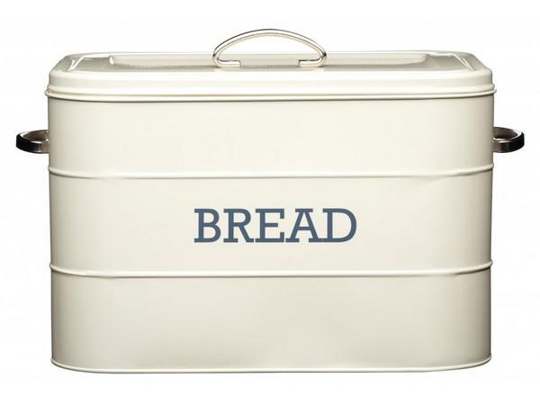 Металлическая хлебница с надписью BREAD