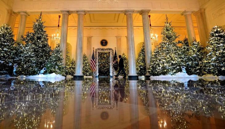 Как украсили Белый дом к Новому году