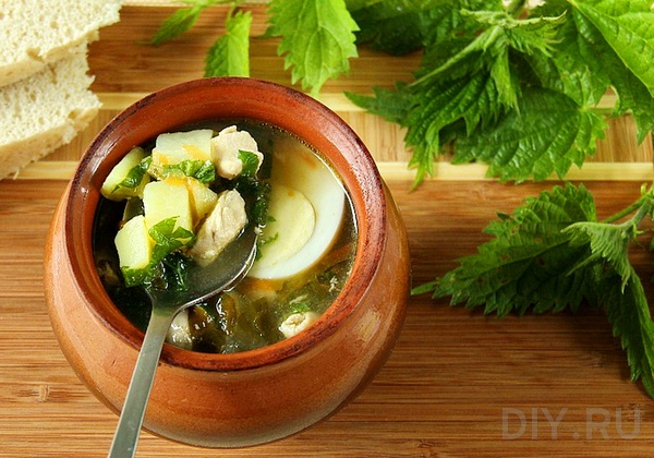 Рецепт летнего супа с крапивой и щавелем