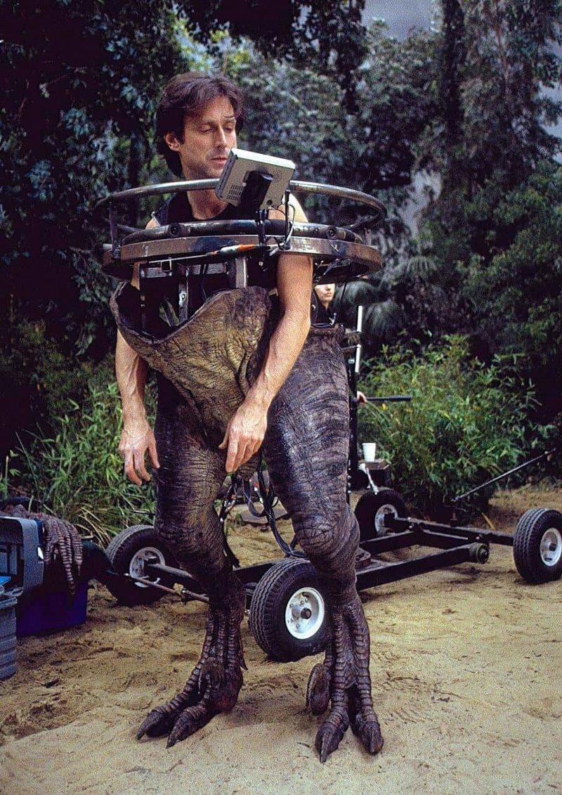 Съемки Парка Юрского периода, 1992 год, Гавайи голливуд, за кадром, кино, фото