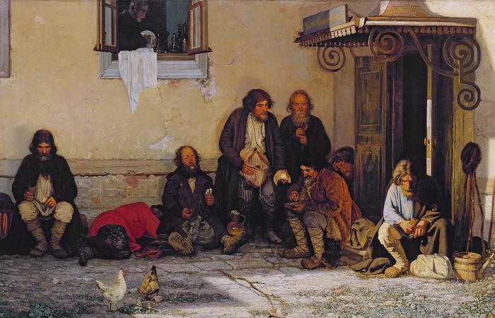 Григорий Мясоедов «Земство обедает», 1872