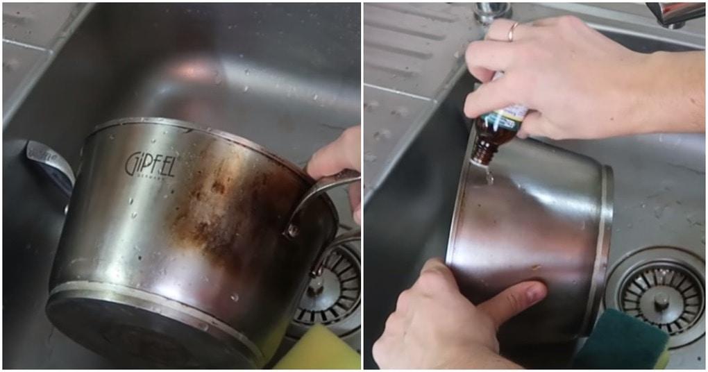 Корвалол на страже чистоты: чистим нержавейку бабушкиным способом