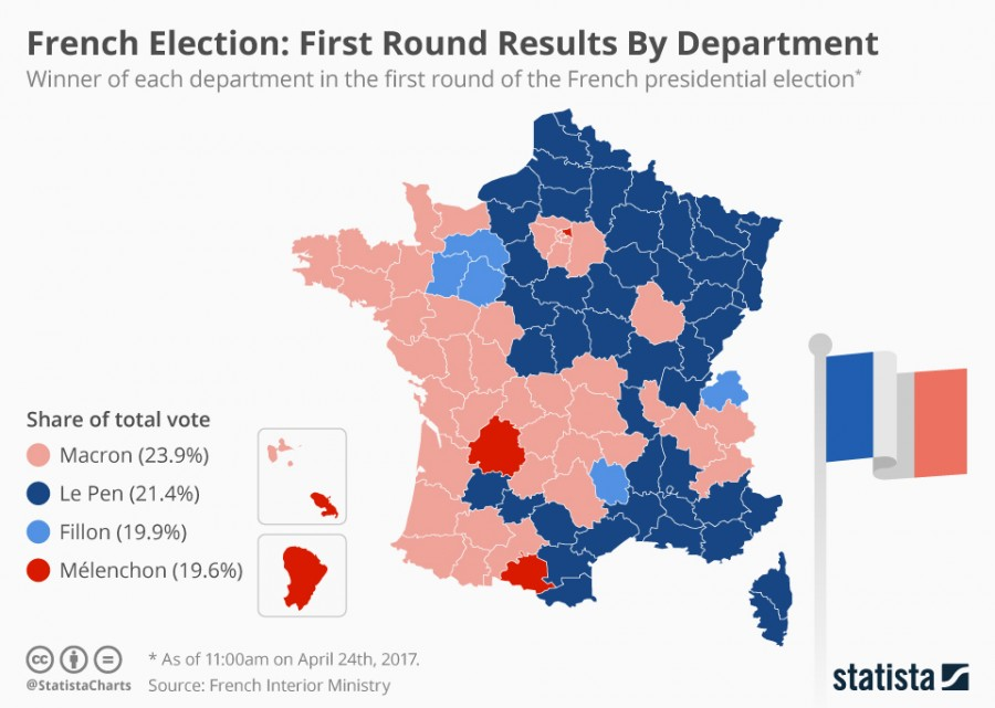 Найди кота: карта выборов во Франции