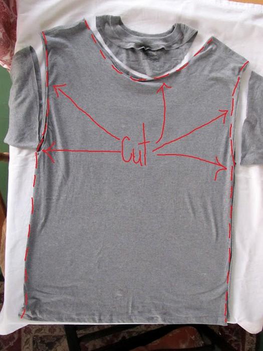 Как с футболки сделать майку мужскую - Альтаир и К